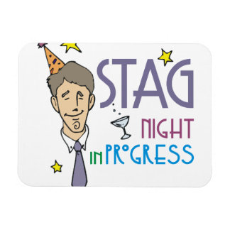 Stag Bachelor Party Rectangular Photo Magnet