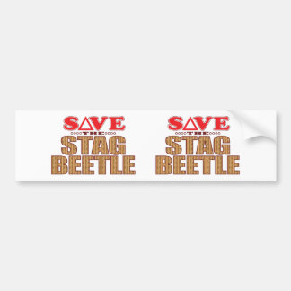 Stag Beetle Save Bumper Sticker