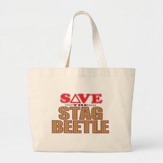 Stag Beetle Save Large Tote Bag
