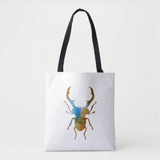 stag beetle tote bag