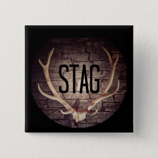Stag Button Badge