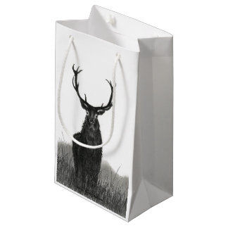Stag Deer Gift Bag Size Small Matte Finish