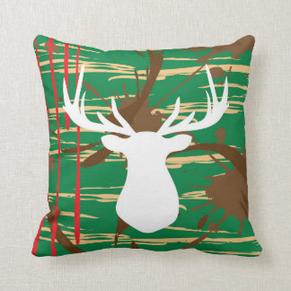 Stag Deer Hunting Throw Pillow