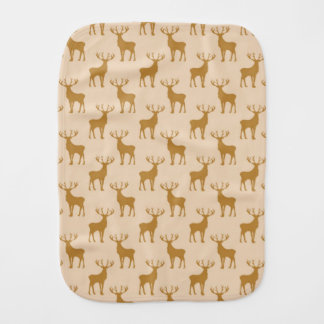 Stag Deer Pattern in Browns Burp Cloth