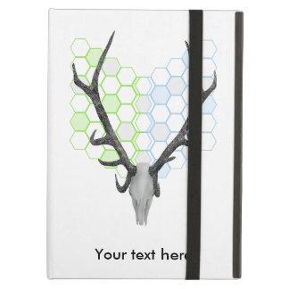 Stag Deer Trophy Antlers Honeycomb Pattern iPad Air Case