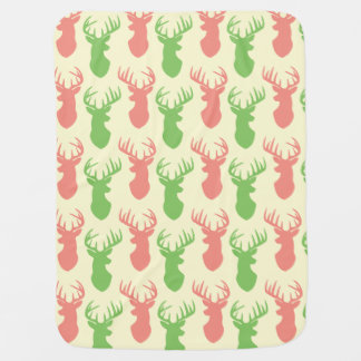 Stag Head Silhouette Baby Blanket