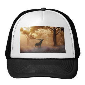 Stag in Mystical Forest Trucker Hat