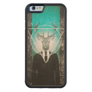 Stag in suit carved maple iPhone 6 bumper case