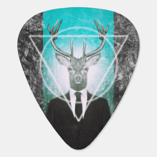 Stag in suit guitar pick