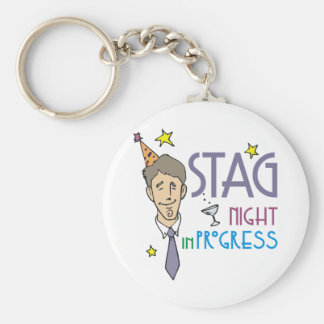 Stag Night Favors Keychain