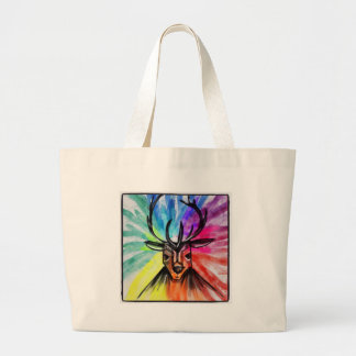 Stag Night Large Tote Bag