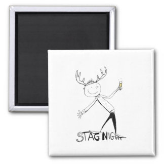 STAG NIGHT SQUARE MAGNET