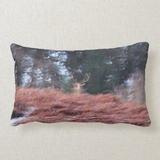 Stag on a hill lumbar pillow