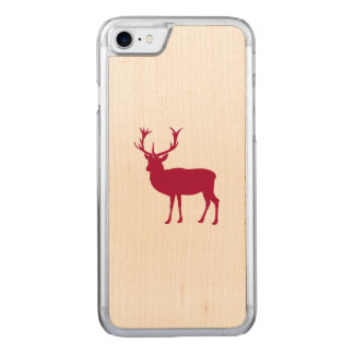 Stag or Bacherlor's Party - European Red Deer Carved iPhone 8/7 Case