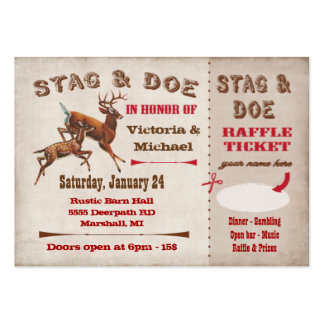 stag tickets template - stag and doe business cards and business card templates