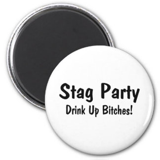 Stag Party 2 Inch Round Magnet