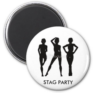 STAG PARTY Badge Refrigerator Magnets