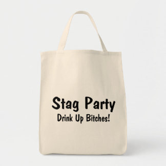 Stag Party Grocery Tote Bag