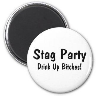 Stag Party Refrigerator Magnet