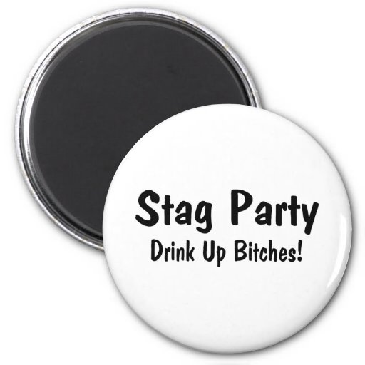 Stag Party Fridge Magnet