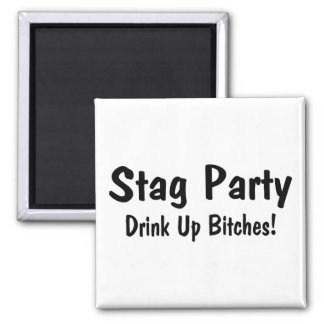 Stag Party Square Magnet