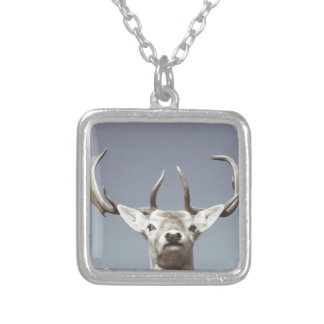 Stag prints stay Deer antlers Antlers Silver Plated Necklace