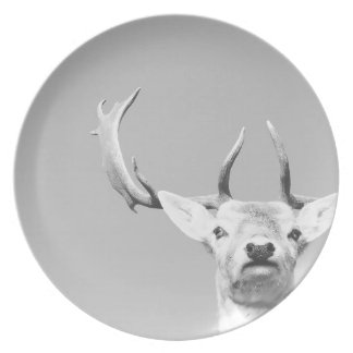Stag prints stay Deer Dinner Plates