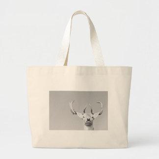 Stag prints stay Deer Large Tote Bag