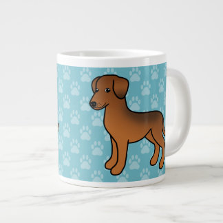 Stag Red German Pinscher Cartoon Dog Large Coffee Mug