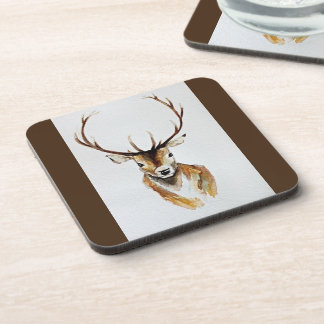 'Stag' Set of 6 Watercolour Coasters