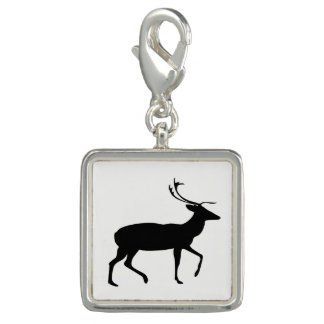 Stag Silhouette Charms
