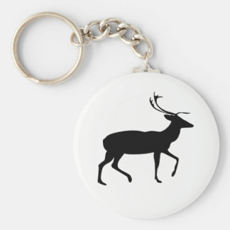 Stag Silhouette Keychain
