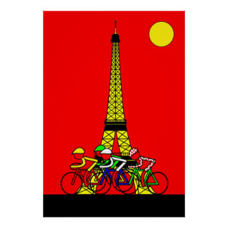 Stage 21 - Eiffel Tower in Yellow Poster
