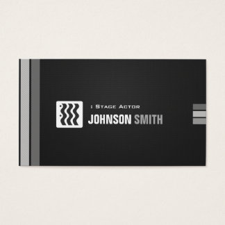 Stage Actor - Urban Black White Business Card