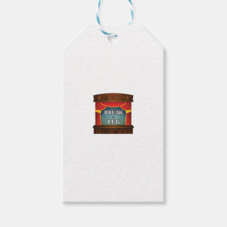 stage break a leg pack of gift tags