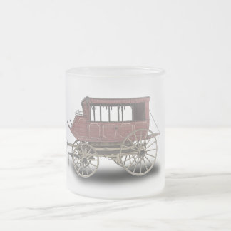 STAGE COACH FROSTED GLASS COFFEE MUG