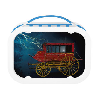 STAGE COACH IN LIGHTNING STORM LUNCH BOX