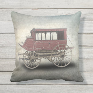 STAGE COACH OUTDOOR PILLOW