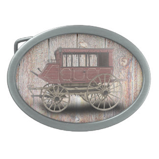 STAGE COACH OVAL BELT BUCKLES