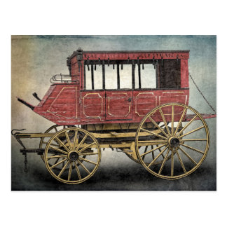STAGE COACH POSTCARD