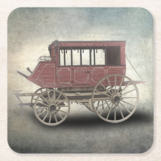 STAGE COACH SQUARE PAPER COASTER