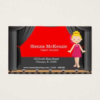 Stage dancer business card