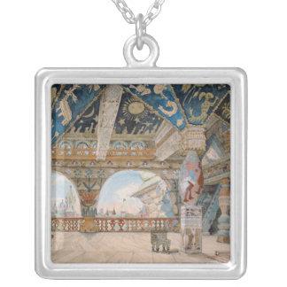 Stage design for Nikolai Rimsky-Korsakov's opera Silver Plated Necklace