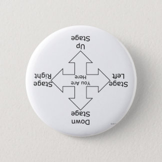 Stage Directions 2 Inch Round Button