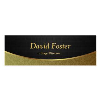 Stage Director - Black Gold Damask Pack Of Skinny Business Cards