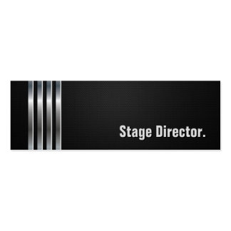 Stage Director - Black Silver Stripes Pack Of Skinny Business Cards