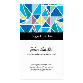 Stage Director Blue Abstract Geometry Pack Of Standard Business Cards