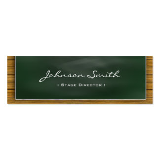 Stage Director - Cool Blackboard Personal Pack Of Skinny Business Cards