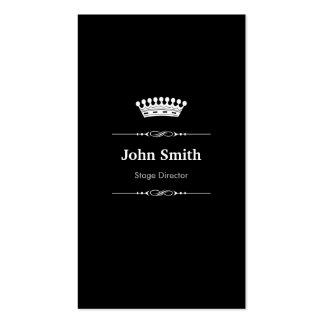 Stage Director Elegant Royal Black White Pack Of Standard Business Cards