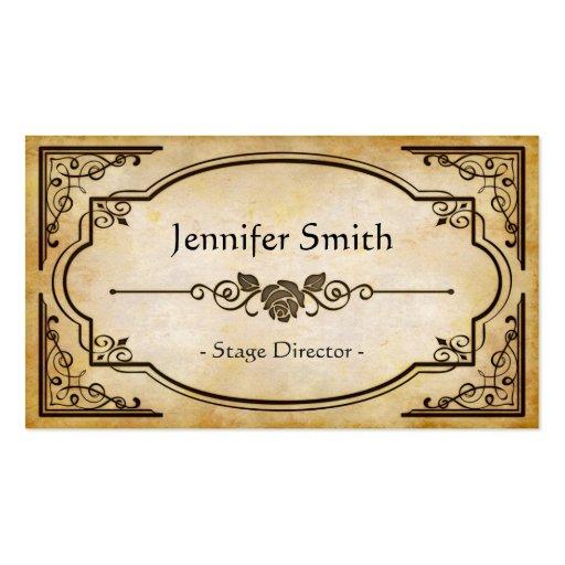 Stage Director - Elegant Vintage Antique Business Cards